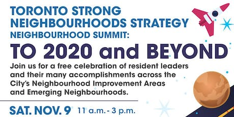 Toronto Strong Neighbourhoods Strategy 2020 Neighbourhood Summit tickets