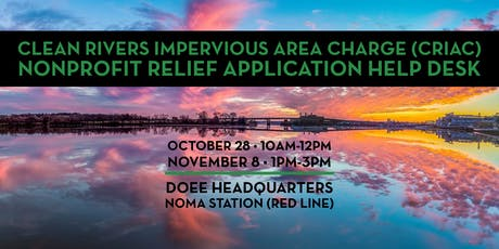 CRIAC Nonprofit Relief: Application Help Desk at DOEE tickets
