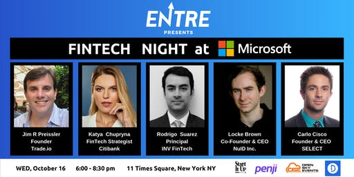 Fintech Event at Microsoft - NYC