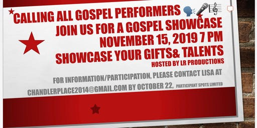 Gospel Showcase Casting Call