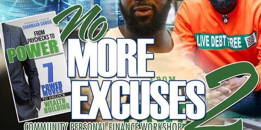 No More Excuses 2: Community Personal Finance Workshop