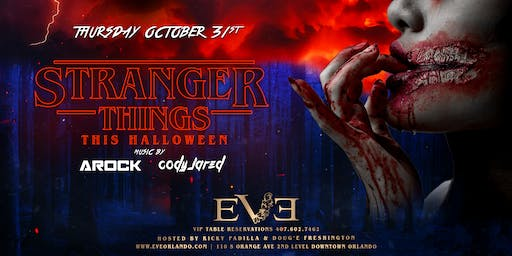 STRANGER THINGS HALLOWEEN NIGHT @EVE ORLANDO