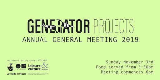 Annual General Meeting 2019 | GENERATORprojects