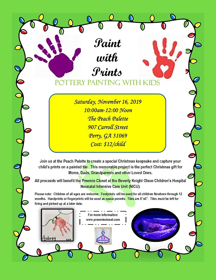 Paint with Prints: Pottery Painting with Kids image