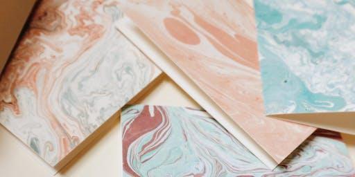 Meditative Making: Paper Marbling at Plant Work Shop