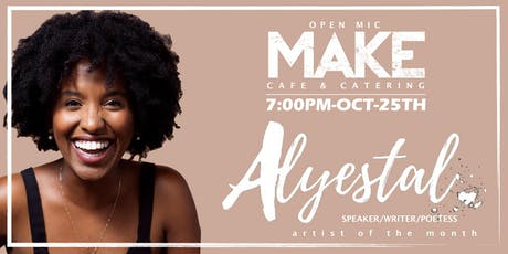 OPEN MIC AT MAKE CAFE  - OCTOBER 25TH tickets