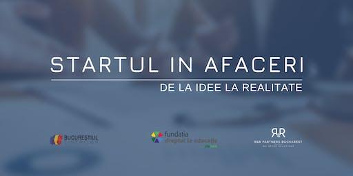 Startul în afaceri - de la idei la realitate