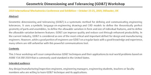 Geometric Dimensioning and Tolerancing (GD&T) Workshop