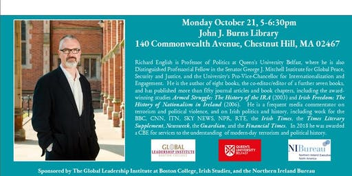 """""""How and Why does Terrorism End?"""" With Professor Richard English, Queen's University Belfast"""