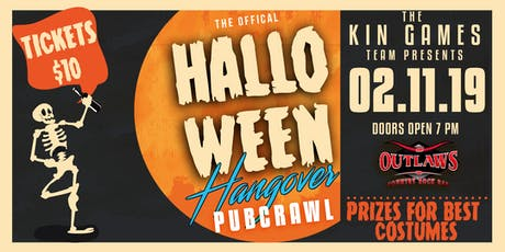 Outlaws ft KIN GAMES Halloween Hangover Pub Crawl tickets