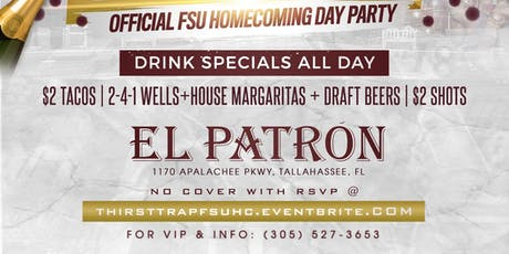 """""""THIRST TRAP"""" - Official FSU Homecoming Day Party tickets"""