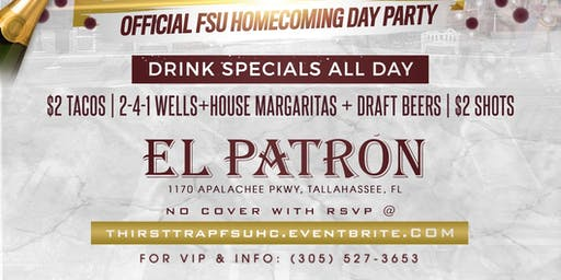 """""""THIRST TRAP"""" - Official FSU Homecoming Day Party"""