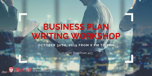 Business Plan Writing Workshop