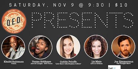 QED Presents: Liz Miele, Caitlin Peluffo, Joe Zimmerman & Usama Siddiquee tickets
