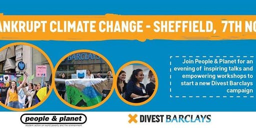 Divest Barclays Mobiliser Tour - Sheffield