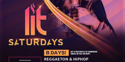 ALL NEW DESEO - LIT SATURDAYS - HIPHOP & REGGAETON - EVERY SATURDAY