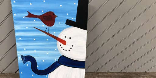 Milkshakes & Masterpieces - Snowman Painting