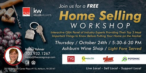 FREE - Home Selling Workshop:  Setting You Up For Success!