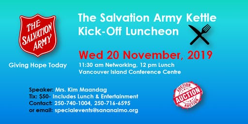 The Salvation Army Nanaimo Kettle Kick Off Luncheon