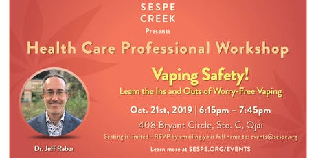 Vaping Safety!  Learn the Ins and Outs of Worry-Free Vaping tickets