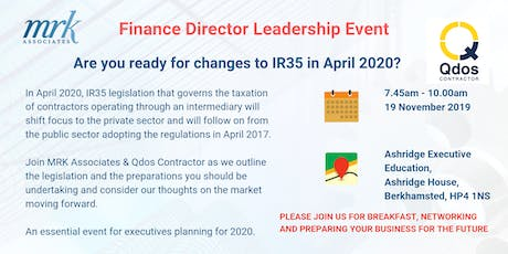 Are you ready for changes to IR35 in April 2020 tickets