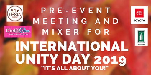 Pre-Event Info Session and Mixer for International Unity Day 2019