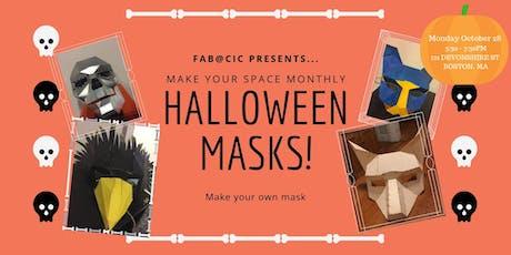 Halloween Mask Making! tickets