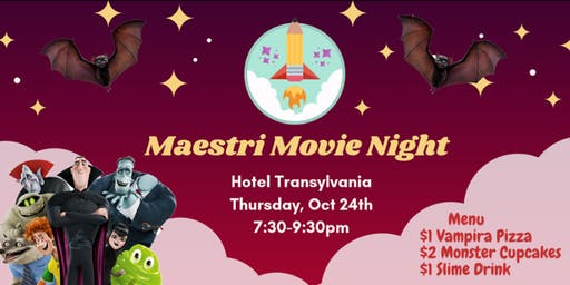 Maestri Movie Night (Hotel Transylvania )