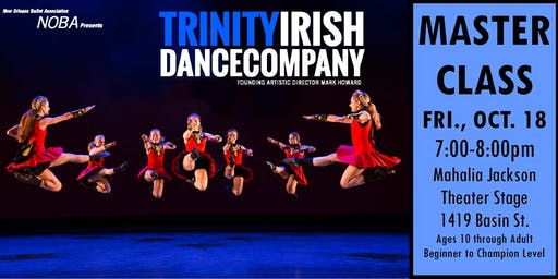 Irish Dance Master Class led by Artists from Trinity Irish Dance Company