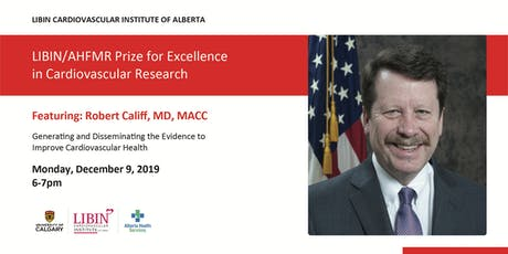 Public Lecture - Libin/AHFMR Prize for Excellence in CV Research tickets
