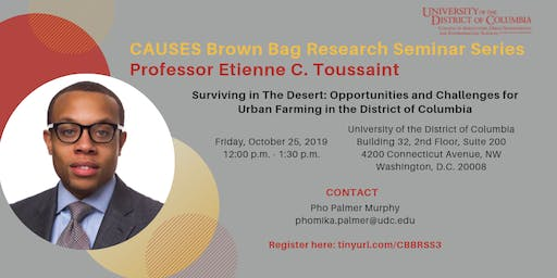 Brown Bag Research Seminar Series: Professor Etienne C. Toussaint