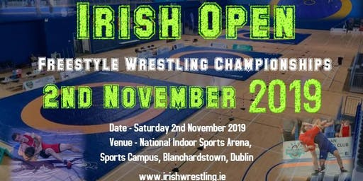 Visiting Participant Registration For 2019 Irish Open Freestyle Wrestling Championships