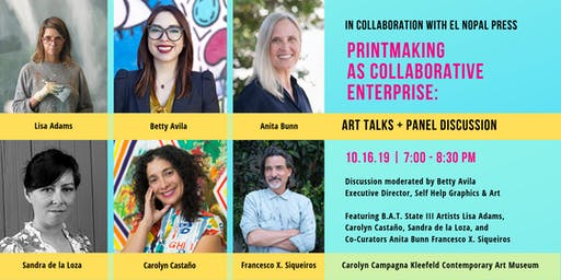Printmaking as Collaborative Enterprise:  Art Talks and Panel Discussion