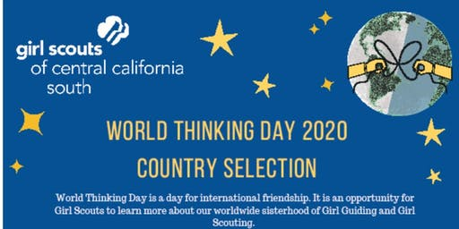 World Thinking Day - Country Selection