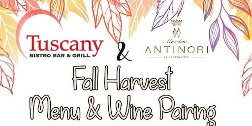 Fall Harvest Menu & Wine Pairing
