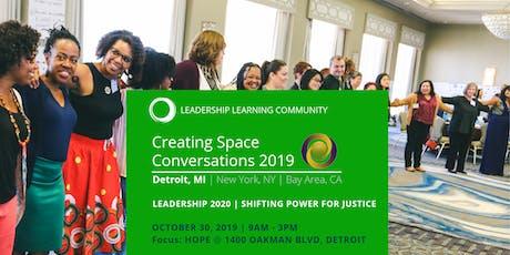 Creating Space Conversations 2019 | Detroit, MI | October 30 tickets