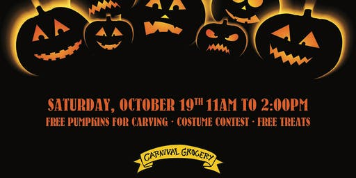 carnival grocery 2nd annual pumpkin carving contest