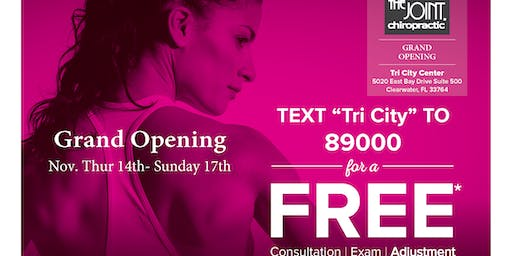 The Joint Chiropractic Tri City Grand Opening with Free Adjustments*