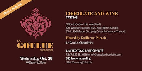 Unique Wine filled Chocolates and wine Tasting tickets