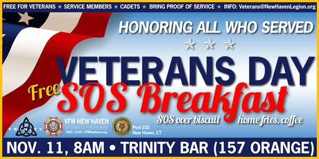 2019 Veterans Day FREE SOS Breakfast tickets