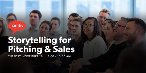 Storytelling For Pitching & Sales