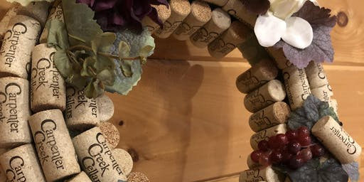 Wine Cork Wreath Class at Carpenter Creek Cellars