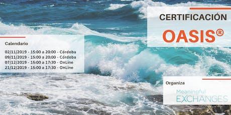 Certificación Internacional OASIS entradas