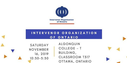 Intervenor Organization of Ontario - Ottawa Workshop