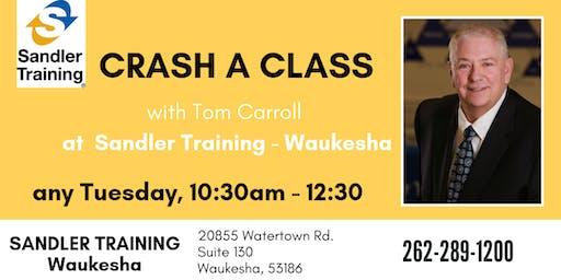 CRASH A CLASS with Tom Carroll any Tuesday!
