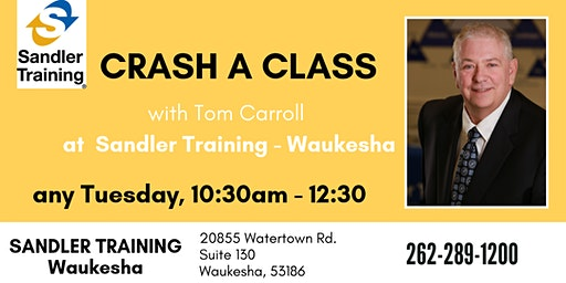 CRASH A CLASS with Tom Carroll any Tuesday!