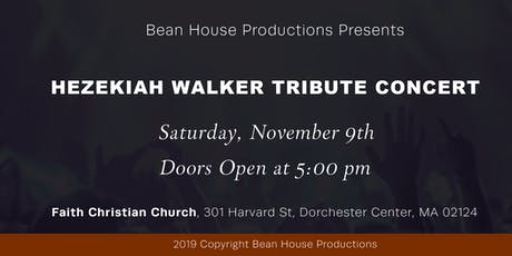 Hezekiah Walker Tribute Concert tickets
