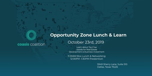 Coasis Coalition Opportunity Zone Lunch & Learn