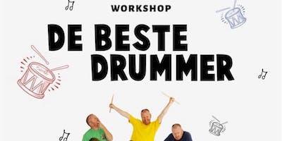 Drumworkshop door Olaf Fase in De Cactus zaterdagmiddag 16 november 2019