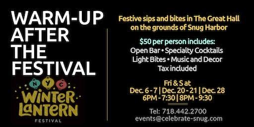 Warm-up and dine after the Snug Harbor Lantern Festival